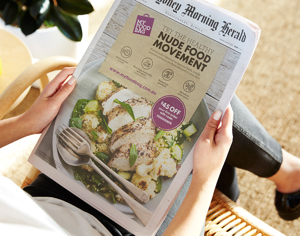 My Food Bag, Print Campaign