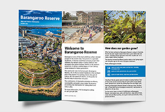 Barangaroo, Visitor Map & Brochure